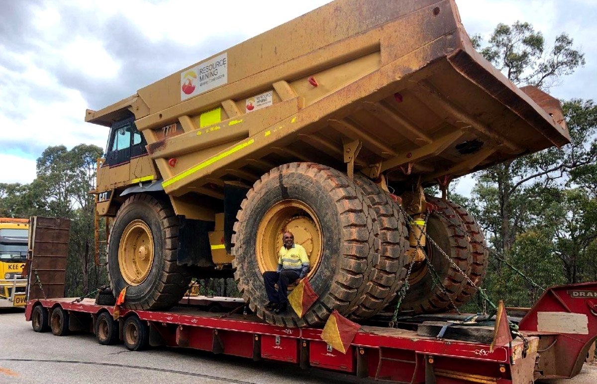 heavy earthmoving machinery